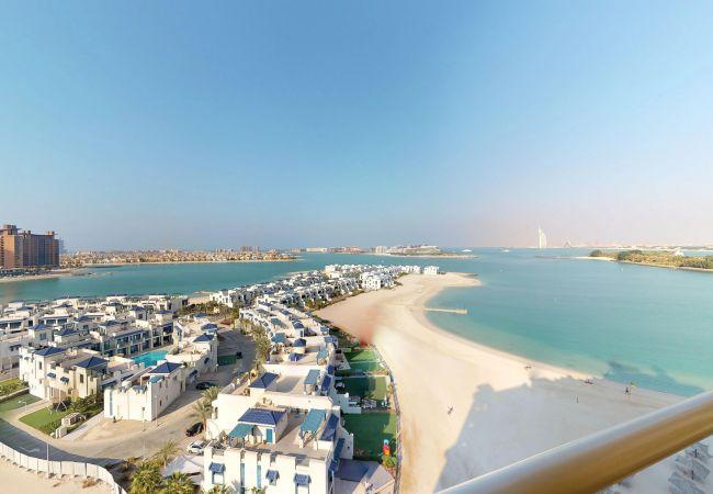 Apartment in Dubai - Palm Jumeirah Beach Holiday Apartment with full Sea Views