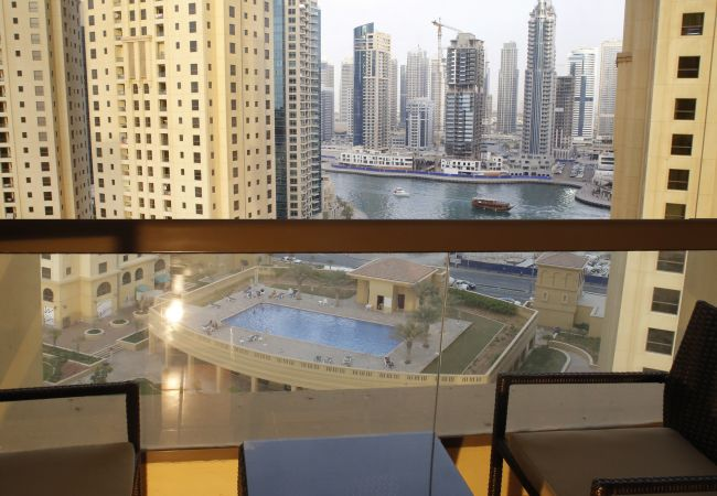 Dubai Short Term Rentals have exceptional views on Marina and skyline