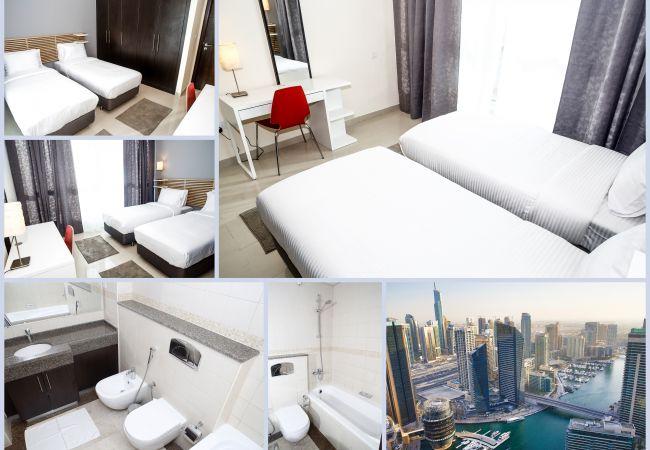 Apartment in Dubai - Bird`s-eye view over Marina, 2BR