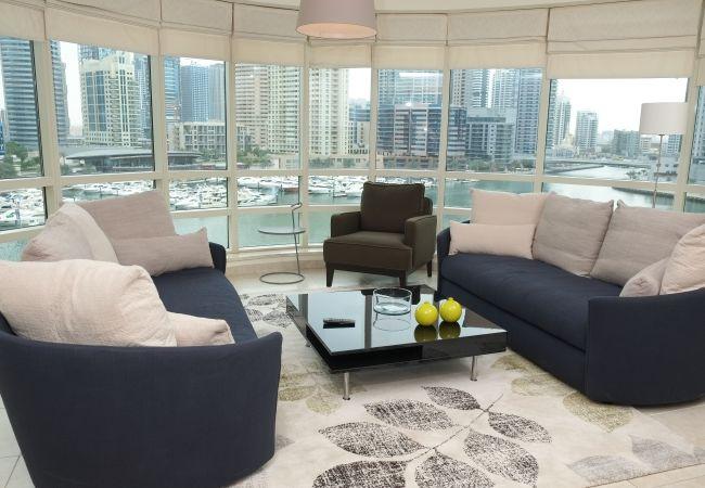 Apartment in Dubai - Panoramic Marina views, 2BR condo