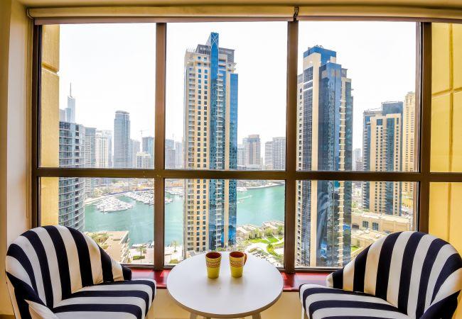 Apartment in Dubai - Astounding 2 bedroom JBR apt with Marina Views